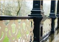 Restauratie balkon kolommen